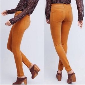 Anthropologie Serif Pilcro orange corduroy pants